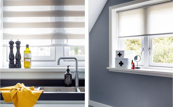 8. Combineer verschillende soorten raamdecoratie