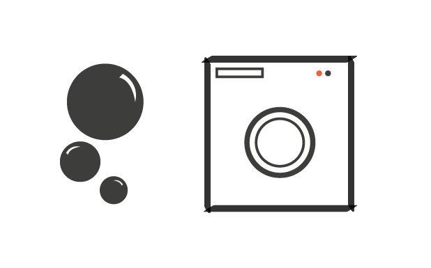 Stap 3: Het wassen van de (vouw)gordijnen