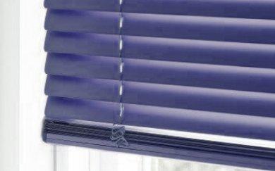 Blauwe aluminium jaloezieën