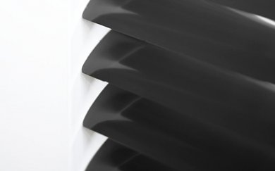Zwarte aluminium jaloezieën