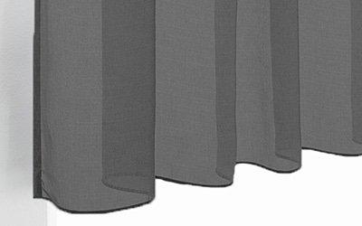 Zwarte vitrage gordijnen