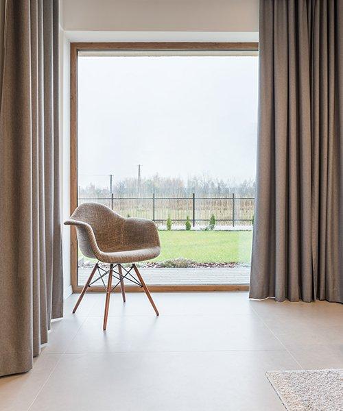 Raambekleding voor grote en kleine ramen