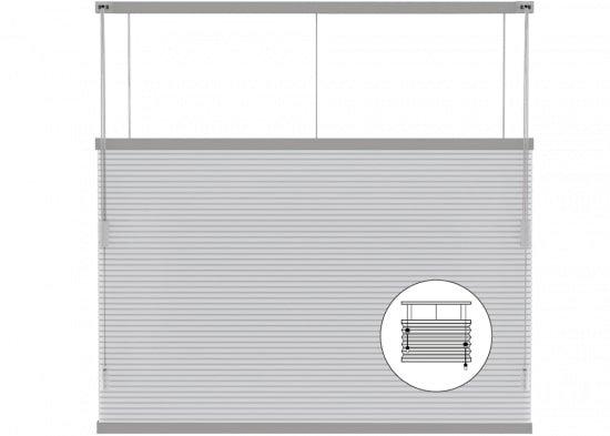 Standaard raam en draai-kiepraam plisségordijnen