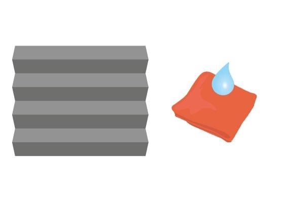 Schoonmaken met een (vochtige) doek