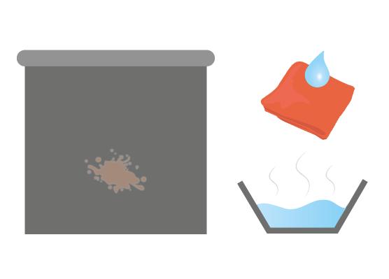 Stan 2: Rolgordijnen schoonmaken met een sopje