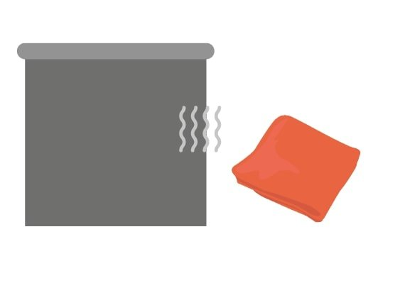 Stap 3: Droog het rolgordijn af met een schone doek