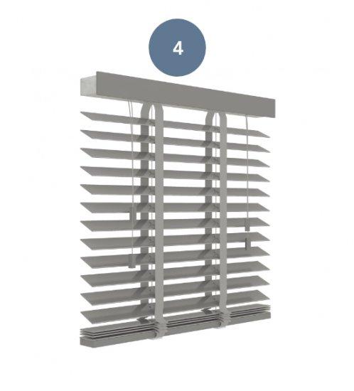 4. Premium betongrijs houten jaloezie