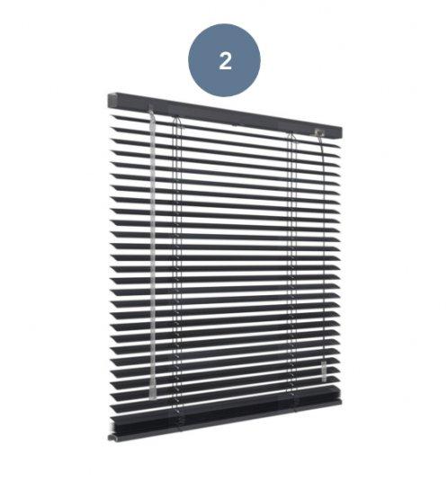 2. Aluminium jaloezie zwart mat