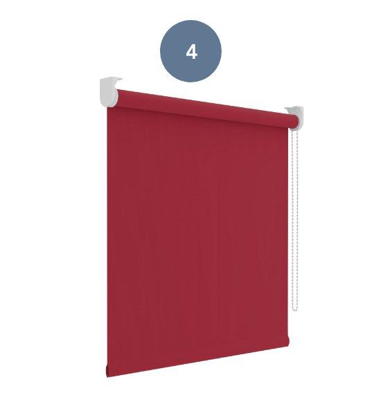 4. Rolgordijn diep rood