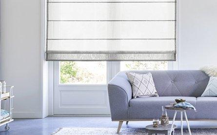 Transparant vouwgordijn - Wit