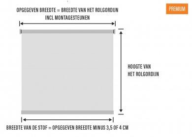 Verschil stofbreedte en mechanisme Premium