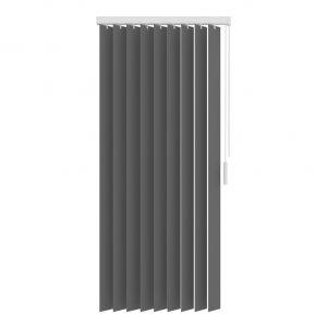Verticale jaloezie antraciet lichtdoorlatend - 200x250cm basic