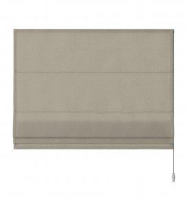 Vouwgordijn linnen bruin transparant premium