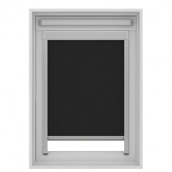 Dakraam rolgordijn zwart SK06